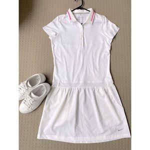 Nike Golf Dri-fit Women White Dress Size S NEW